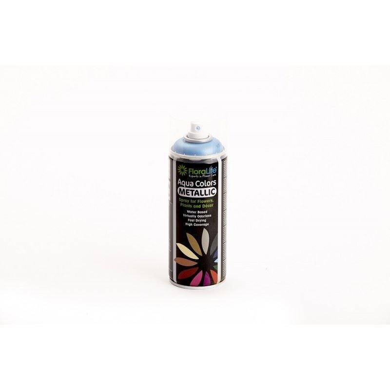 400ml spray can floralife aqua color metallic colors blue 4192 for in oasis florist Metallic spray paint colors