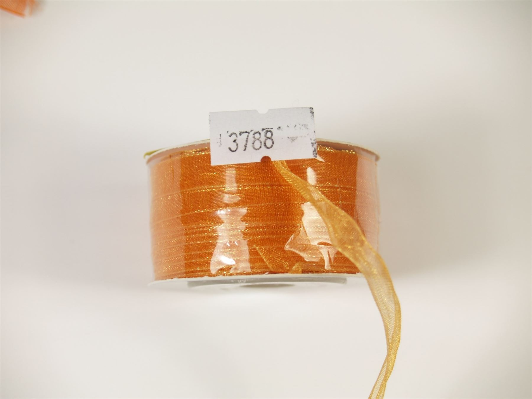7mm x 30m Organza Ribbon Golden Brown  (3788)