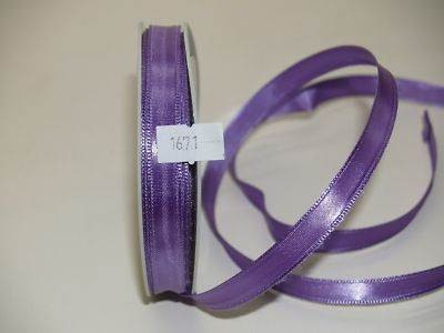 1cm Wired Satin Ribbon Orchid (1671)