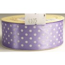 25mm x 20m Dotty Satin Ribbon Violet (4105)