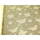 10m Butterfy Medium Florist Film Cellophane Gift Wrap Cream  (4341-10)