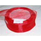 15mm x 22 m Organza Ribbon Red x 5 (3413)