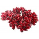 144 Holly Berries on Wire Christmas Decoration (4486)