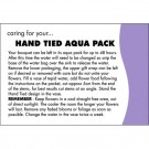 100  Oasis Florist Hand Tied Aqua Pack Care Cards  (4160)