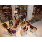 12 Artificial Feather Birds On Thin Wire Stem (814)