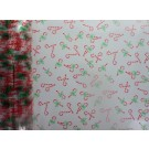 10m Christmas  Candy Canes Florist Film Cellophane Gift Wrap(4619-10)