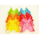 12 Feather Glittered Artificial Butterflies Wedding Party Flower Arrangement 8cm (4280)