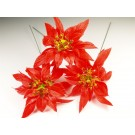 10 Stems Small Poinsettias Christmas Floristry Decorative Pick (3889)