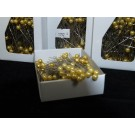 144 Round Pearl Pins 5.5cm Goldenrod Yellow (2152)