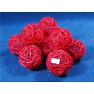 10 Rattan Bunch Ball 8cm Bleached Red (3107)