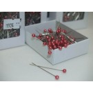144 Round Pearl Pins 4cm Indian Red (1924)