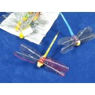 12 Artificial Dragonflies On Thin Wire stem (3661)