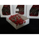 144 Round Pearl Pins 5.5cm Red (2151)