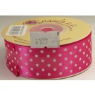 25mm x 20m Dotty Satin Ribbon Fuchsia (4107)