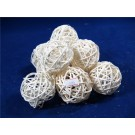 10 Rattan Bunch Ball 6cm Bleached White (3102)