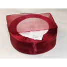 15mm x 22 m Organza Ribbon Claret x 5 (3414)