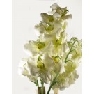 3 Single  Orchid Stems Large Artificial Silk Flowers White (4055)