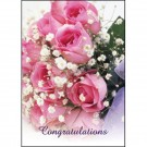 25 Oasis Florist Folded Cards  Congratulations - Bouquet Of Roses  (4152)