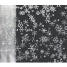 20m Christmas Snow Fakes Florist Film Cellophane Gift Wrap White-Silver (4476-20)