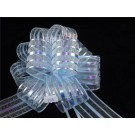 10 Organza Pull Bows 5cm Light Blue (2338)