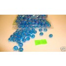 210 x 8mm Round Blue Aclyric Beads 51g (358)