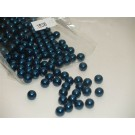 210 x 8mm Round MidnightBlue Aclyric Beads 51g (1938)