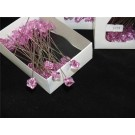 "48 Acrylic Crystal Shaped Pins Pink 4""or10cm (2458)"