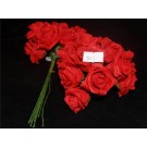 36 Colourfast Foam Mini Roses Red (2643)