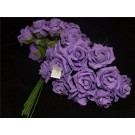 36 Colourfast Foam Mini Roses Purple (2644)